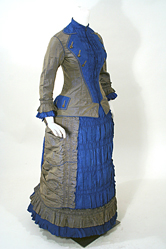 Antique Victorian 1876 Silk Graduation Gown