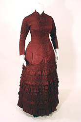 Victorian 1882 Silk Wedding Gown