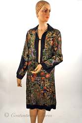 1920s Vintage Orientalist Lamé Tunic Dress