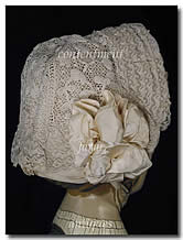 Victorian Irish Crochet & Lace Child's Bonnet