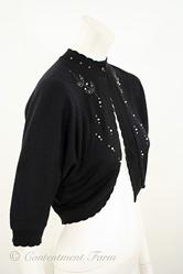 1950s Vintage Orlon Rhinestone Bolero Sweater Shrug