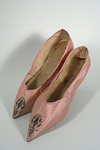 Pink Silk Evening Shoes / Slippers Circa 1790