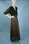 1930s Black Lace Evening Gown with Matching Bolero