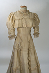 Superior Raw Silk & Lace Edwardian Tea Gown with Jacket