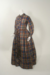 Civil War Era 1860's Plaid Silk Maternity Wrapper