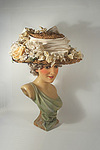 Spectacular Edwardian Wide Brim Straw Hat