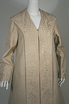 Edwardian Silk Embroidered Duster or Motoring Coat