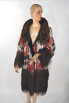 1920s Lamé & Velvet Reversible Evening Coat