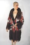 1920s Lamé & Velvet Reversible Evening Coat