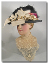 Extravagant Edwardian Beaver Plush Hat