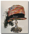 Colorful 1920's Lamé, Velvet & Feather Cloche