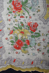 Finely Detailed Vintage Cotton Floral Print Handkerchief