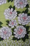 Vintage Gardenia Print Cotton Handkerchief