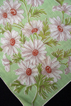 Vintage White Cosmos Print Cotton Handkerchief