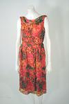 Vintage Suzy Perette Floral Chiffon Dress